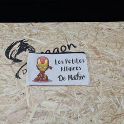 Trousse Iron Man avec prénom
