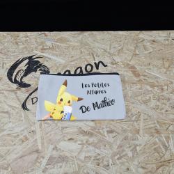Trousse Pikachu avec prénom