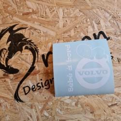 Sticker Bébé a Bord Volvo