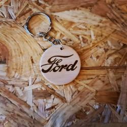 Porte Clés bois Ford